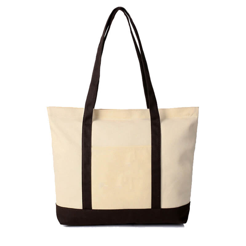 CTB04 Wholesale Canvas Tote Bags With Zipper