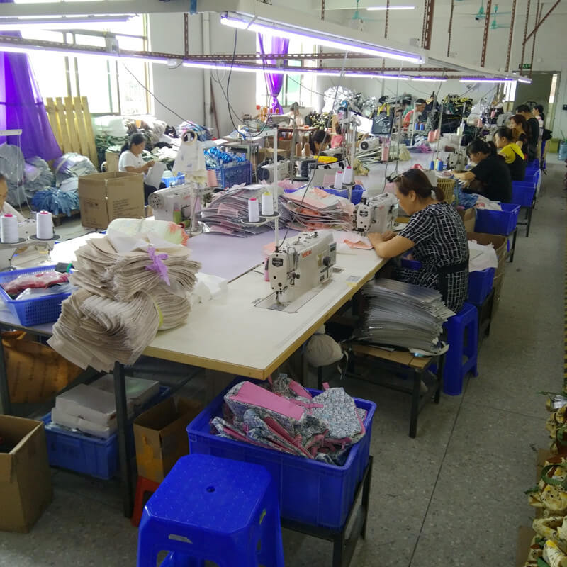 Production department of Linway backpack factory