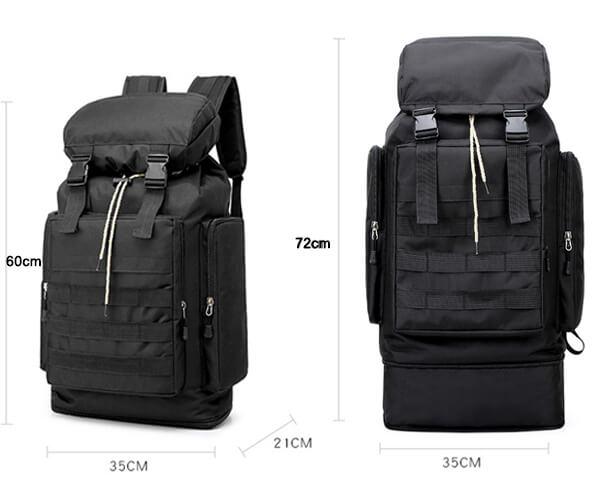 hiking backpack dimension
