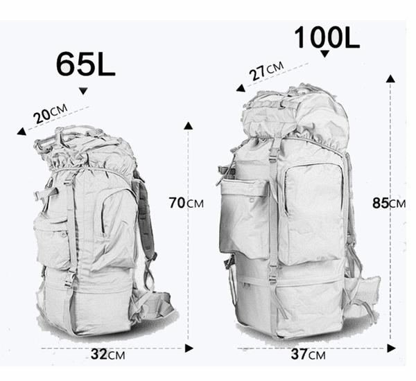 rucksack dimensions